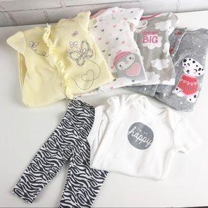 Newborn Baby Girl 6-Piece Bundle. Size NB